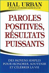Paroles Positives,résultats puissants Couverture du livre
