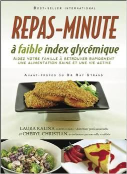 Repas-minute à faible index glycémique Couverture du livre